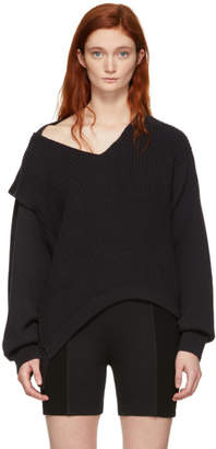 Alexander Wang Black Utility V-Neck Sweater