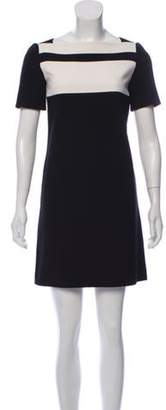 Emilio Pucci Short Sleeve Mini Dress Black Short Sleeve Mini Dress