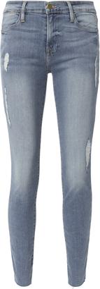Frame Le High Skinny Cascade Hem Jeans Denim 26