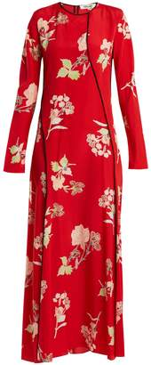 Diane von Furstenberg Split-hem silk crepe de Chine dress
