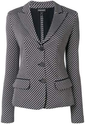 Emporio Armani geometric single-breasted blazer