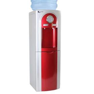 LLECNED Water Dispenser Top Load Hot/Cold, High Quality Deluxe Stainless Steel RED w/compact storage