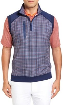 Men's Bobby Jones Xh20 Grid Quarter Zip Stretch Golf Vest $135 thestylecure.com