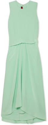 Sies Marjan - Lottie Pick Up Silk Crepe De Chine Midi Dress - Light green