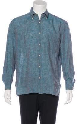 Luciano Barbera Button-Up Linen Shirt