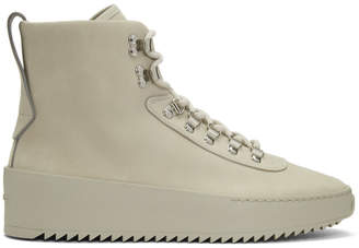 Fear Of God Taupe Nubuck Hiking Sneaker Boots