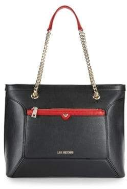 Love Moschino Chain Faux Leather Tote