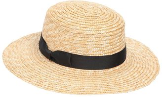 The Spencer Boater Straw Hat $148 thestylecure.com