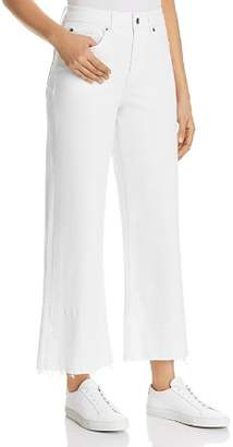 1 STATE 1.STATE Released-Hem Wide-Leg Jeans in Ultra White