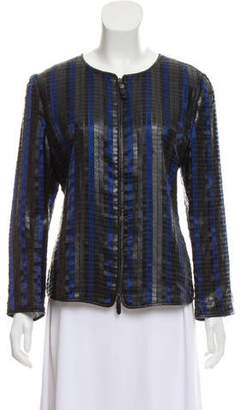 Giorgio Armani Python Leather Jacket