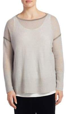 Lafayette 148 New York Plus Mohair-Blend Sequin Sweater