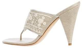 Oscar de la Renta Woven Thong Sandals