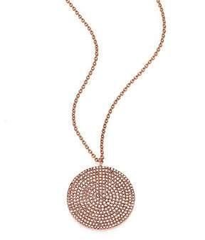 Astley Clarke Women's Icon Light Grey Diamond & 14K Rose Gold Aura Large Pendant Necklace