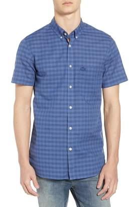 Lacoste Slim Fit Check Cotton & Linen Sport Shirt