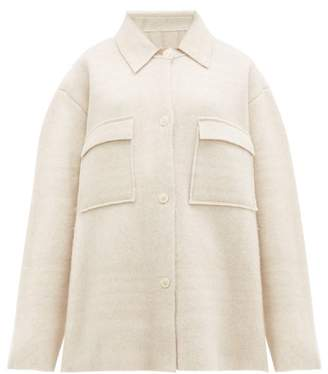 Jacquemus Maille Oversized Check Wool Jacket - Womens - Ivory