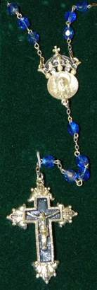 LIBRARY The Vatican Collection King Of Kings Sapphire Colo Crown Rosary