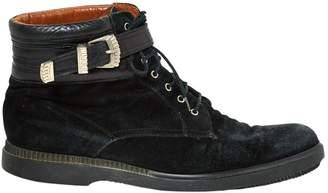 Versus Black Suede Boots
