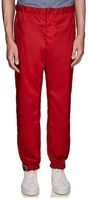 Prada Men's Rubber-Tab Tech-Gabardine Joggers