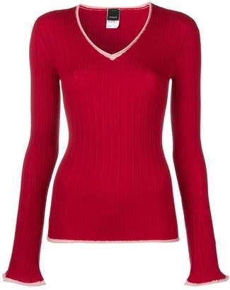 Pinko Garnet v-neck jumper