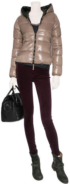 J Brand Jeans Lavish Bordeaux Mid-Rise Skinny Corduroy Pants