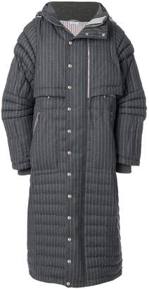 Thom Browne Articulated Chalk-Striped Down Fill Parka