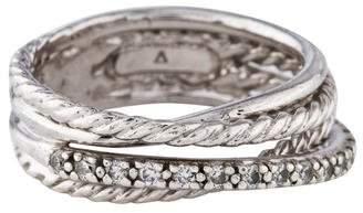 David Yurman Diamond Crossover Ring