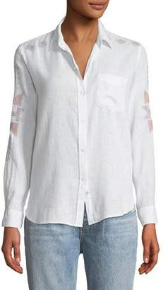 Rails Charli Embroidered Long-Sleeve Shirt