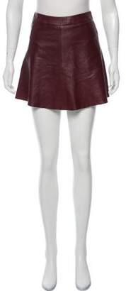 Veda Leather Mini Skirt