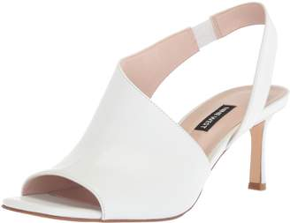 Nine West Women's Orrus Leather Heeled Sandal