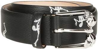 Alexander McQueen Skeleton Print Belt