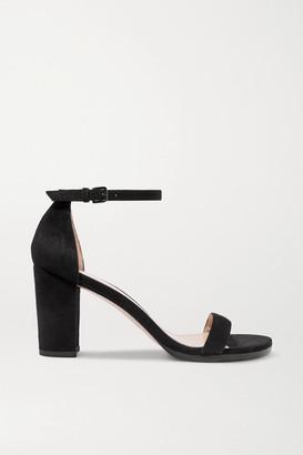 Stuart Weitzman Nearlynude Suede Sandals - Black