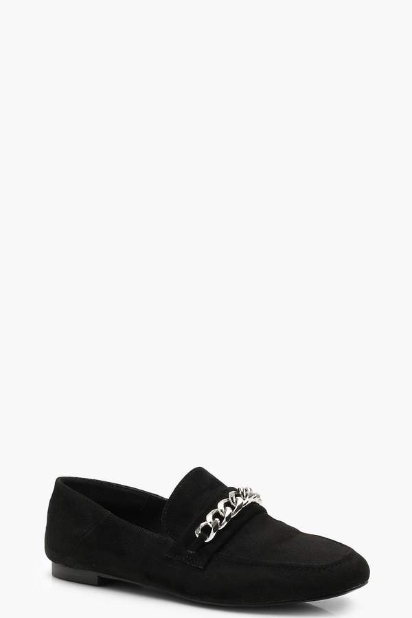boohoo Chain Detail Loafers