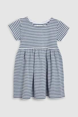 Next Girls Blue/Ecru Dress (3mths-6yrs)