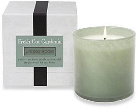 Lafco Inc. Living Room/Fresh Cut Gardenia Glass Candle