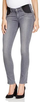 Paige Denim Verdugo Maternity Skinny Jeans in Silvie $159 thestylecure.com