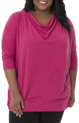 Fruit of the Loom Fit for Me by Women's Plus-Size Active Drapey Tunic Tee