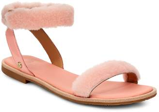 UGG Fluff Springs Genuine Shearling Sandal