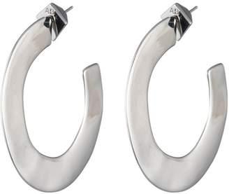 Alexis Bittar Enlarged Liquid Metal Hoop Earring