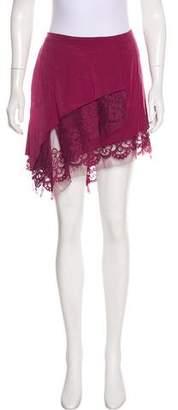 Michelle Mason Silk Knee-Length Skirt w/ Tags