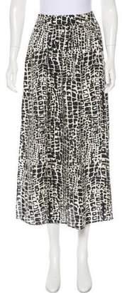 Rachel Zoe Silk Midi Skirt