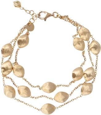 """Arte D'oro Arte d'Oro 7-1/4"""" Satin Bead Multi-strand Bracelet, 18K 11.8g"""