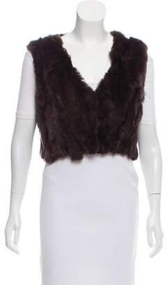 Adrienne Landau Crop Fur Vest