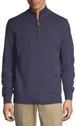 ST. JOHN'S BAY Mock Neck Long Sleeve Pullover Sweater
