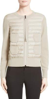 Moncler Coreana Quilted Knit Jacket