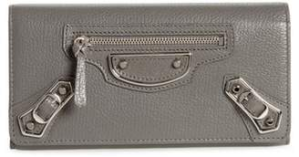 Balenciaga Metallic Edge Money Leather Wallet