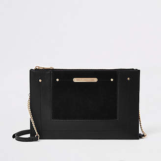 River Island Black chain cross body bag