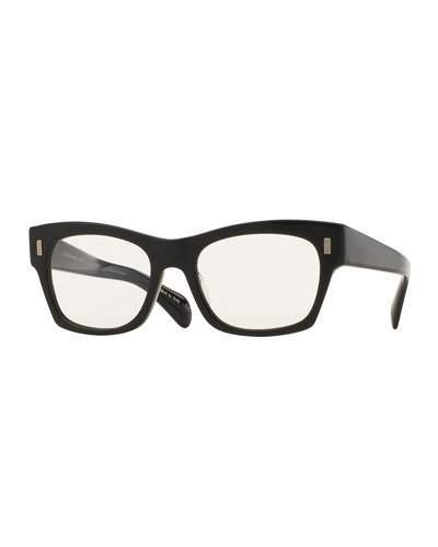 Oliver Peoples The Row 71st Street Photochromic Square Sunglasses, Black