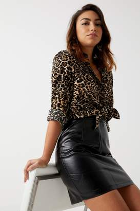 Next Womens Boohoo PU Mini Skirt