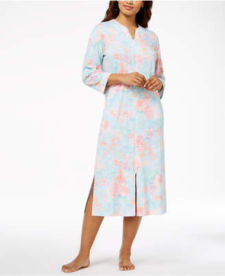 Miss Elaine Bouquet-Print Knit Robe