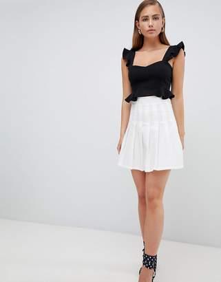 PrettyLittleThing Pleated Mini Skirt